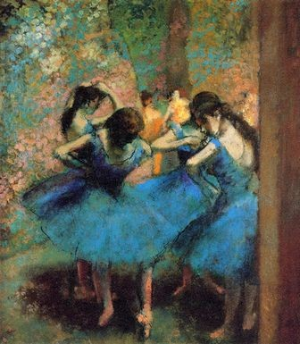 エドガー・ドガ作『青い踊り子たち』