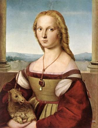 ラファエロ・サンツィオ,一角獣を抱く貴婦人