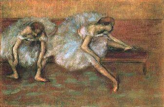 靴を履く踊り子たち