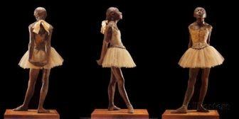 14歳の小さな踊り子の彫刻