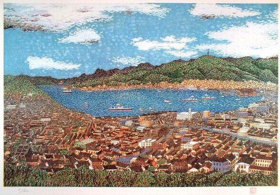 山下清『長崎風景』放浪の画家 貼絵と波の遠近法 美の巨人たち