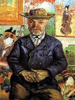 もう1枚のタンギー爺さんの肖像 ここにも浮世絵が