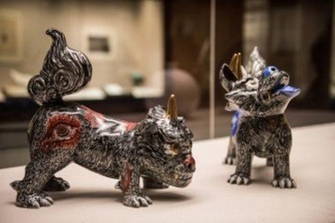小松美羽 作品「狛犬」