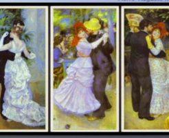 ルノアールダンス3部作 左から 都会のダンス ブージヴァルのダンス 田舎のダンス