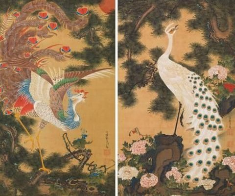 孔雀鳳凰図