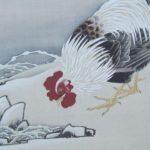雪梅雄鶏図
