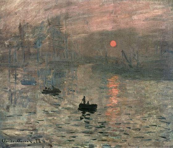 睡蓮とともに知られている「印象、日の出」クロード・モネの代表作